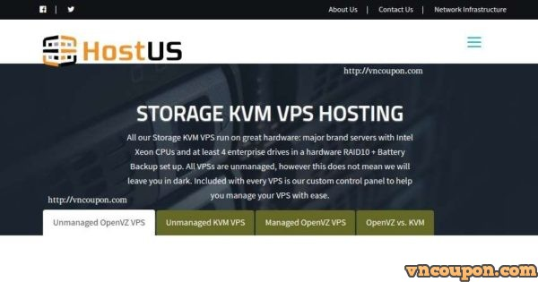 HostUS – Storage KVM VPS from $10/quarter or $33/year