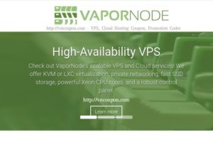 VaporNode – Special 2GB RAM OpenVZ, LXC and KVM VPS From $5/month in Tampa Florida