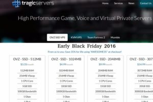 [Black Friday 2016] TragicServers – SSD VPS from $21/Year