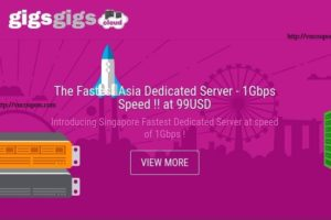 [12.12 Promotion] GigsGigsCloud – Hong Kong & Singapore VPS from $1.8 USD/month