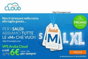 ArubaCloud – 50% OFF VMware Cloud VPS – 2 GB RAM VPS only €6 per month