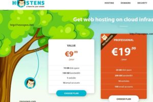 Hostens.eu – Web Hosting from €9.99/Year & VPS Hosting from €11.88/Year in Europe