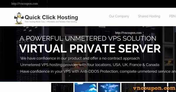 Quick Click Hosting – Unmetered VPS 500Mbps Port including Anti-DDoS Pro from $3/month