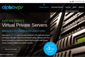 AlphaVPS – VPS specials with huge discounts from 3 Euro/month