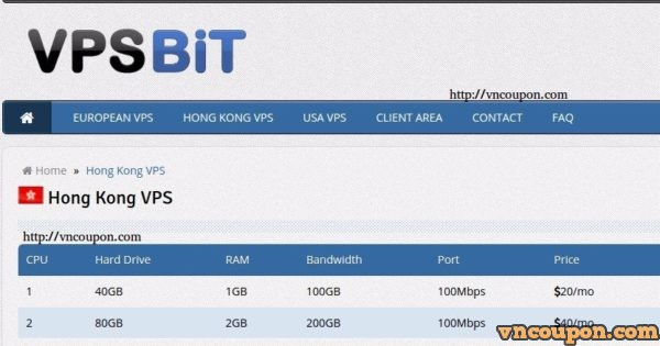VPSBit.com – 350GB Disk Space Hong Kong Special VPS only $7/month
