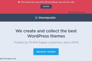 Theme Junkie Coupon Codes For Holiday 2017 – 60% Off All WordPress Themes (Last chance)