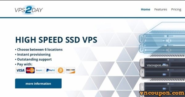 VPS2day - 1GB RAM KVM VPS only 4 99€/month - VNCoupon