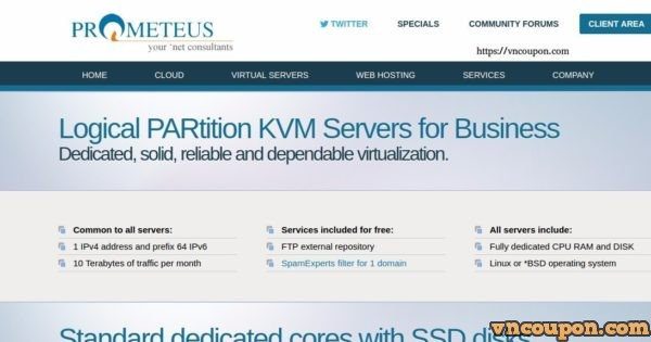 Prometeus LPAR – KVM Servers Dedicated CPU for Business from €8/month  – Price reduction up to 30% OFF in Netherlands