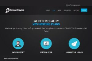 CycloneServers – Cheapest KVM VPS from $15/Year in Los Angeles