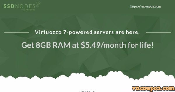 SSD Nodes – Virtuozzo 7-Powered Servers – Get 8GB RAM at $5.49/month for life! Full Docker support