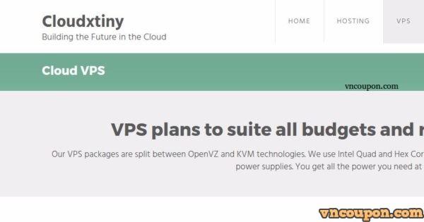 Cloudxtiny – Cheap VPS £3.00/Yr, 1TB HDD KVM VPS £5/month