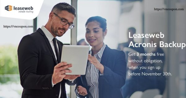 Get 3 months free LeaseWeb Acronis Backup