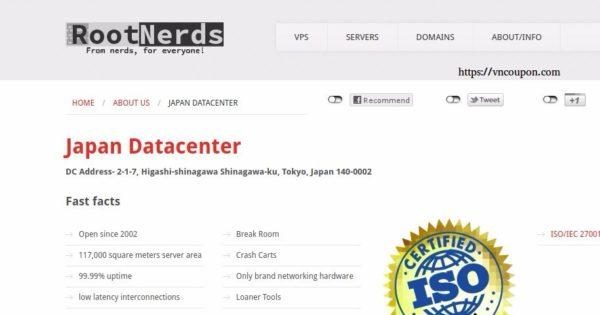 RootNerds – Japan VPS Exclusive Offer only €5.49/month