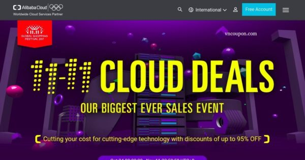 Alibaba Cloud Singles Day Offers – Biggest Sale of the year up to 95% (Remind)