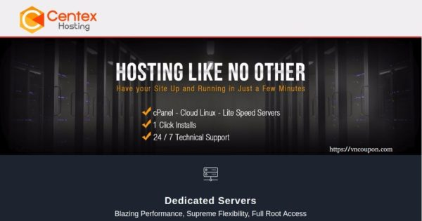 CenTex Hosting - Special 4GB RAM VPS only $5/month - VN Coupon
