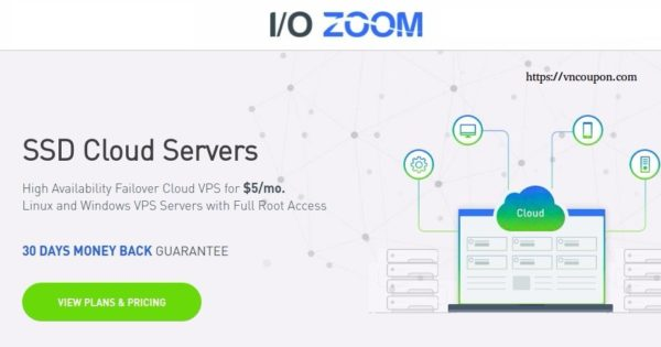 IO Zoom – 1 GB RAM Cloud VPS only $5/month – High Availability and Automatic Failover