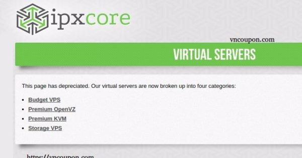 IPXcore – OpenVZ & KVM VPS from $1/month in Arizona