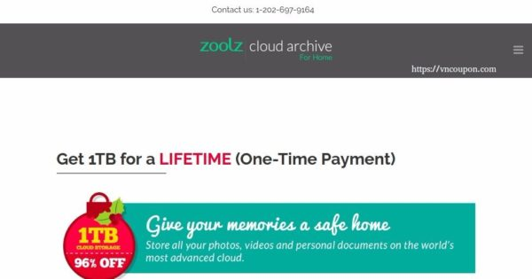 Zoolz – Get 1TB Cloud Storage for a LIFETIME (96% OFF)