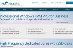 Prometeus – 50% recurring discount on Windows VPS