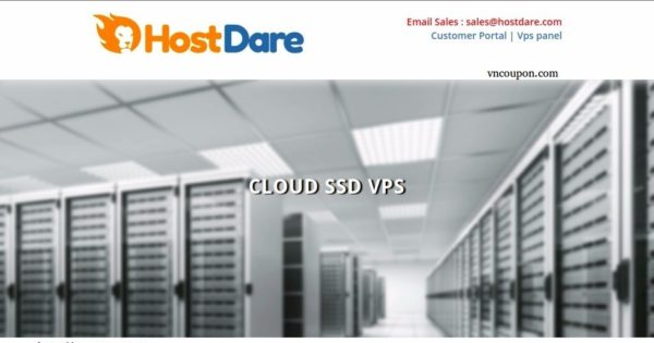 HostDare – 75% One Time Discount – 1GB RAM VPS only $0.5/month