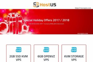 [Christmas Deals 2017] – HostUS Special Offers – biggest sale of the year, while stocks last! OpenVZ, KVM, SSL and More!