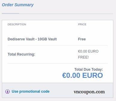 Dediserve Vault - Nextcloud-based Storage Platform - 10GB