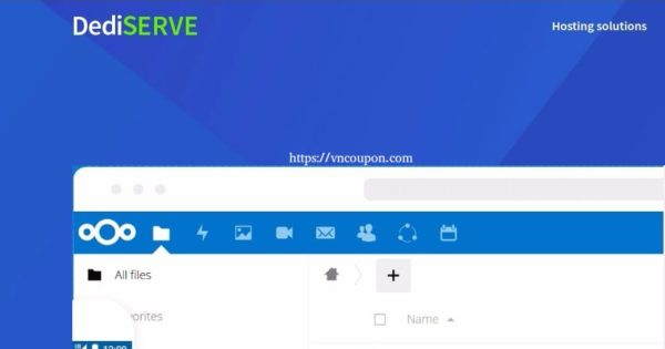 Dediserve Vault – Nextcloud-based Storage Platform – 10GB for free
