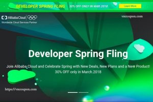 Join Alibaba Cloud and Celebrate Spring with New Deals, New Plans and a New Product! 30% OFF only in March.2018
