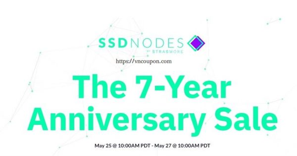The SSD Nodes 7-Year Anniversary Sale is here! Up to 91% Discount