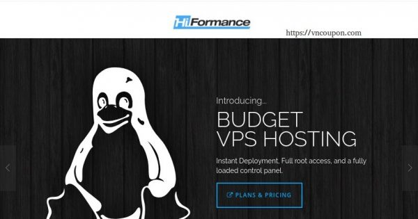 HiFormance –  Special VPS from $15.99/year – Asia Optimized/CN2 – Pre-pay 3-years to get double resource