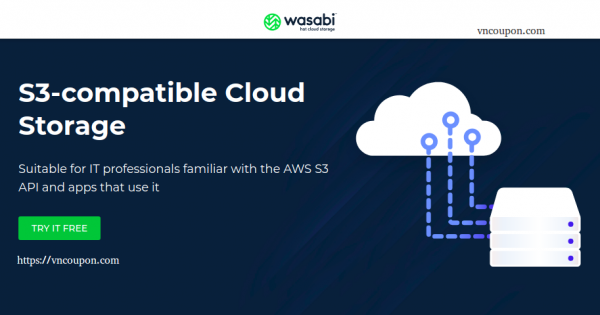 Wasabi – 1TB Cloud Storage only $60/year – S3 API Compatible