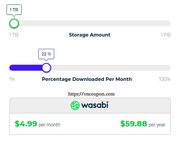 Wasabi - 1TB Cloud Storage only $60/year - S3 API Compatible