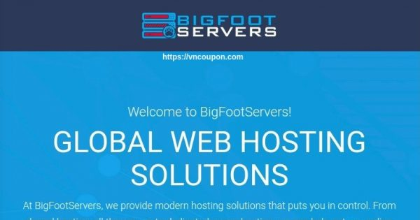 BigFootServers – Pooled Resource VPS from $30/year in Los Angeles & Dallas