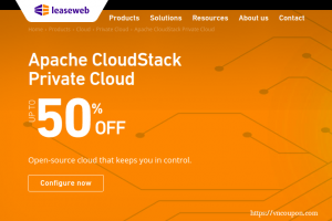LeaseWeb Coupon & Promo codes in on May 2020 – 50% OFF Apache CloudStack Private Cloud