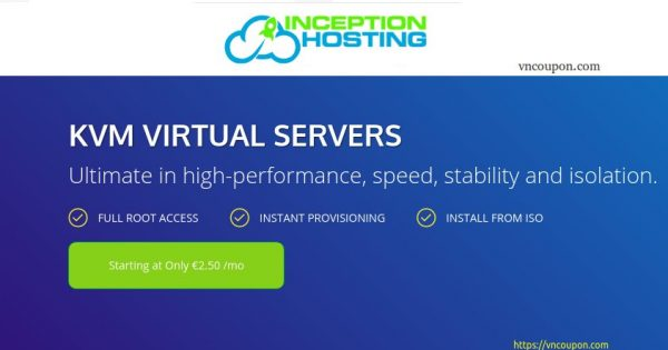 InceptionHosting – Storage KVM VPS from $6.08/month – Dedicated CPU – Unmetered Bandwidth