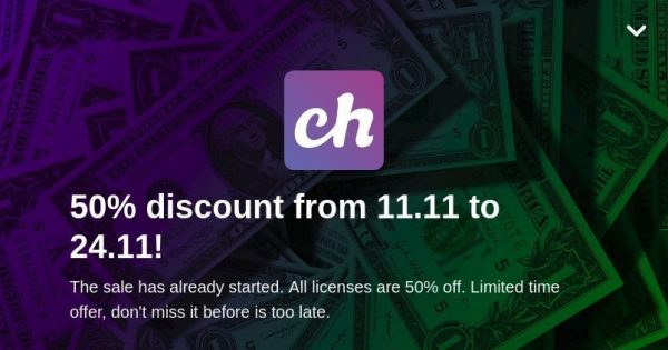 [11.11 Deals] Chevereto License – 50% discount from 11.11 to Black Friday