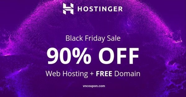 [Black Friday 2018] Hostinger – 90% OFF Web Hosting + Free Domain