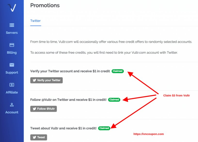 Vultr Promotions And Gift Codes for October 2019 –  $53 Free Credit for New Account