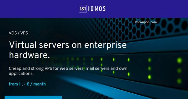 1&1 IONOS - vServer from €1/month in Germany & USA - VNCoupon