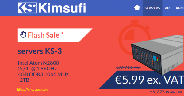 Kimsufi OVH – Special Dedicated Servers from €3.99/month – Flash Sale KS-3 Server only €5.99/month