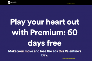 [Valentine's Day 2019] Spotify – Premium Free for 60 days
