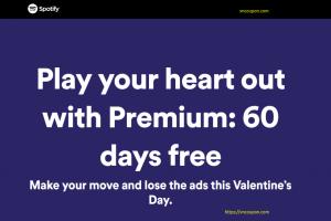 [Valentine's Day 2019] Spotify – Premium Free for 60 days