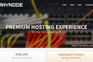 anyNode – VPS Hosting from $12.50/year, Resource Pools from $12/year, Dedicated servers from $50/month in Los Angeles & Miami