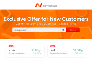 Namecheap Coupons & Promo Codes for June 2019 – Get  .COM Registration only $5.88 USD