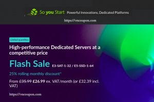 [Flash Sale] OVH So You Start – 25% off for life on the E3-SAT-1-32 / E5-SSD-1-64 Dedicated Servers