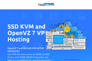 hostEONS – Up to 50% OFF on KVM and OpenVZ VPS – Free cPanel Web Hosting with all VPS –  unmetered traffic – RAID 10 SSD