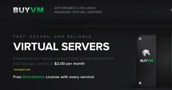 BuyVM.NET – New Special KVM VPS from $2.00/month – High Performance VPS with E3 CPU/ SSD Storage – free CN2 Bandwidth & DirectAdmin Control Panel