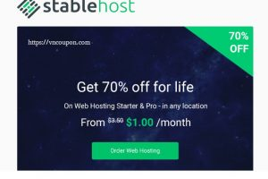 StableHost Coupon & Promo Codes in October 2019 – Super Offer – 70% off for life on Web Hosting!