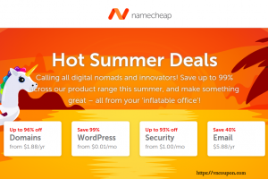 Namecheap Coupons & Promo Codes for July 2019 – Hot Summer Deals – 	Up to 96% off domains