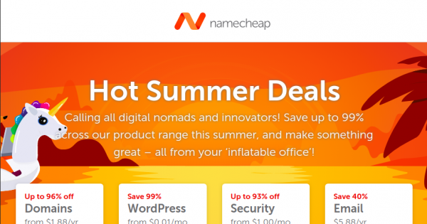 Namecheap Coupons & Promo Codes for August 2019 - VNCoupon